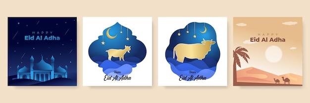 Mooi eid al adha-festivalbannerontwerp. eid al adha viering van islamitische feestdag