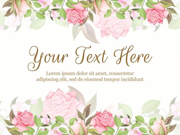 Mooi en bloeien achtergrond sjabloon voor spandoek