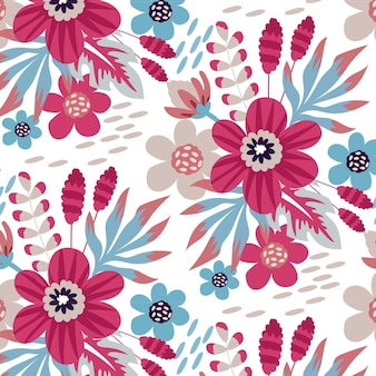 Mooi en creatief bloemenbehangontwerp