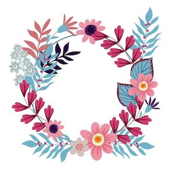 Mooi en creatief bloemenkransontwerp