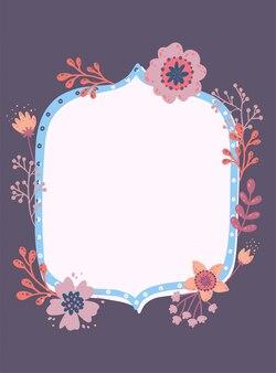 Mooi frame met bladeren en bloemen.