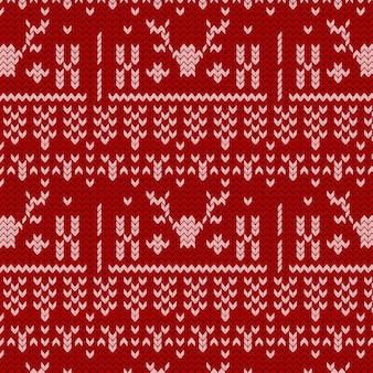 Mooi gebreid kerstpatroon