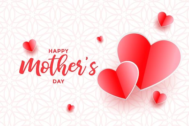 Mooi gelukkig moedersdag harten achtergrondontwerp