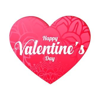 Mooi gelukkig valentijnsdag hart wenst kaart ontwerp