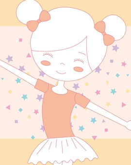 Mooi glimlachend ballerinaballet in klassieke tutu