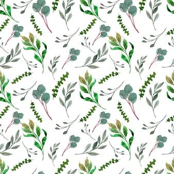 Mooi groen gebladerte naadloze patroon