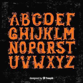 Mooi halloween-alfabet