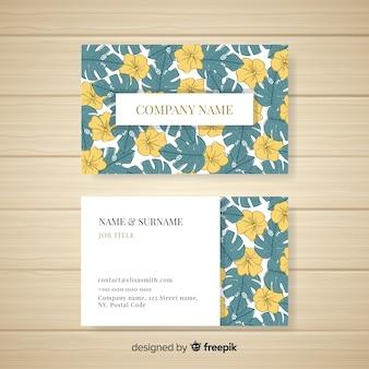 Mooi hand getrokken bloemenadreskaartje