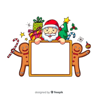 Mooi hand getrokken kerstmisframe