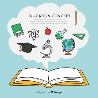 Mooi hand getrokken onderwijsconcept
