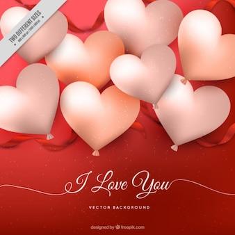 Mooi hart ballons achtergrond