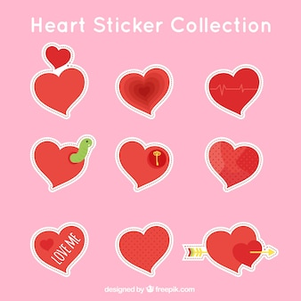 Mooi hart stickers pak