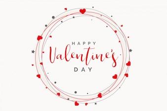 Mooi hartenframe voor valentijnskaartendag