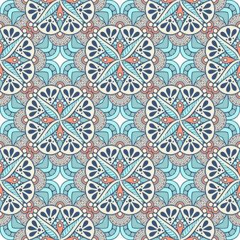 Mooi indisch traditioneel naadloos patroon