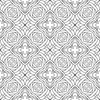 Mooi indisch traditioneel naadloos zwart-wit patroon