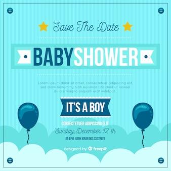 Mooi is het een sjabloon van het jongensbaby shower