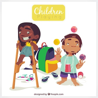 Mooi karakters van spelende kinderen