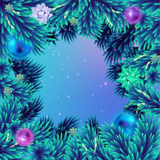 Mooi kerstboomframe in violette tinten