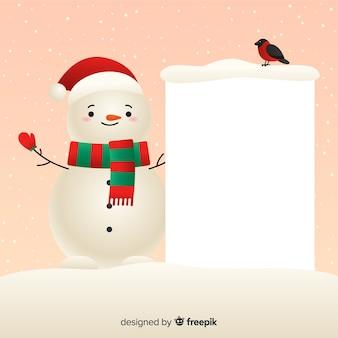 Mooi kerstkarakter met sjabloon