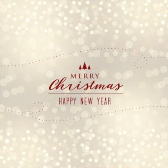 Mooi kerstmis bokeh ontwerp als achtergrond