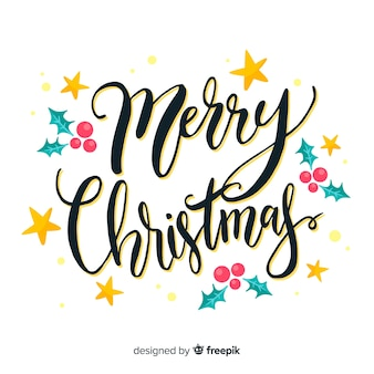 Mooi kerstmisconcept met het van letters voorzien