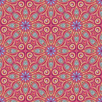 Mooi kleurrijk aard abstract patroon met bloemen