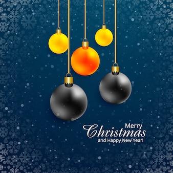 Mooi kleurrijk de balontwerp van festival vrolijk kerstmis