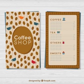 Mooi koffiewinkel menu