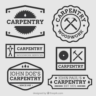 Mooi logo voor timmerwerk