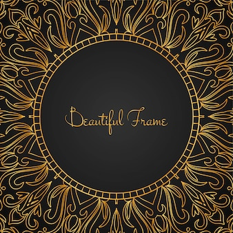 Mooi luxe gouden frame