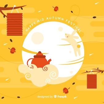 Mooi medio herfstfestivalontwerp als achtergrond