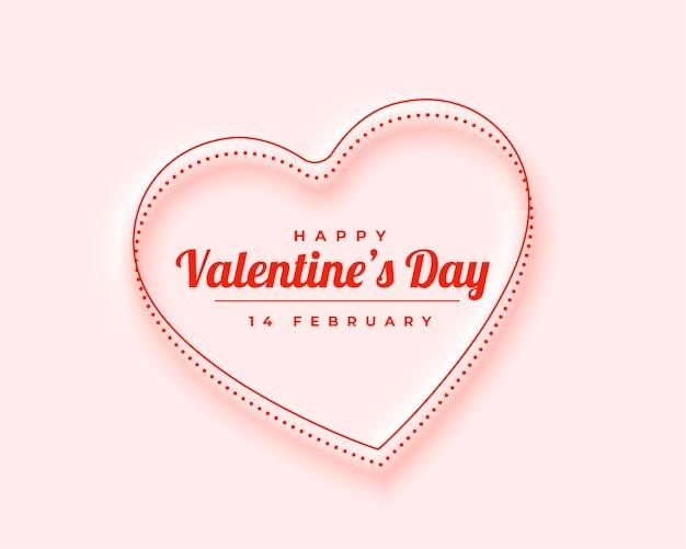 Mooi minimaal ontwerp voor de wenskaart van de valentijnsdag