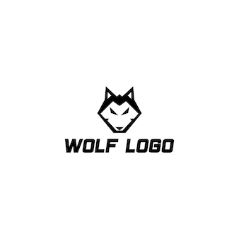 Mooi modern en sterk wolvenlogo