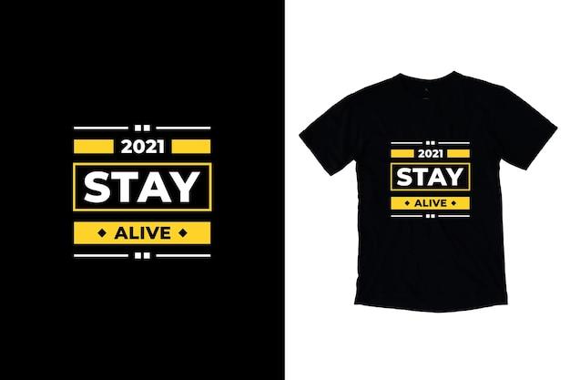 Mooi modern t-shirtontwerp met citaten