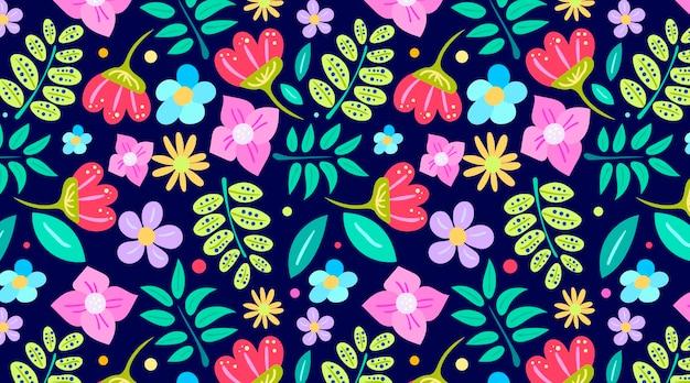 Mooi naadloos bloemenpatroon