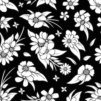 Mooi naadloos bloemenpatroonontwerp