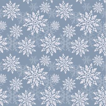 Mooi naadloos patroon met een ronde sneeuwvlok op een gekleurde achtergrond. vector illustratie. wintermotieven