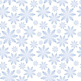 Mooi naadloos patroon met een ronde sneeuwvlok op een transparante achtergrond. vector illustratie. wintermotieven