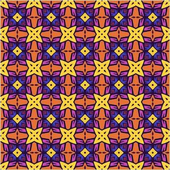 Mooi naadloos patroon met etnische stijl