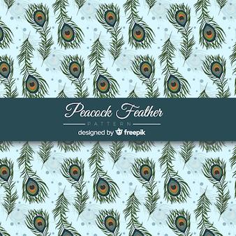Mooi ontwerp van het pauwveerpatroon