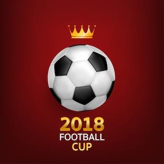 Mooi ontwerpsjabloon van voetbal achtergrond.