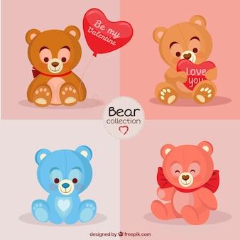 Mooi opgezette beren voor valentijn dag