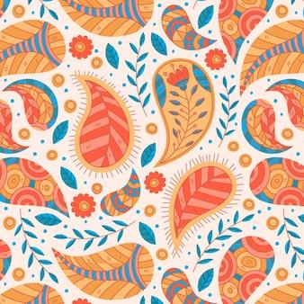 Mooi paisley traditioneel naadloos patroon