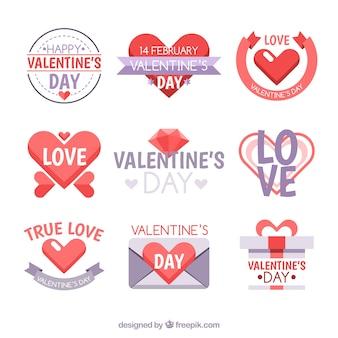 Mooi pak valentines labels