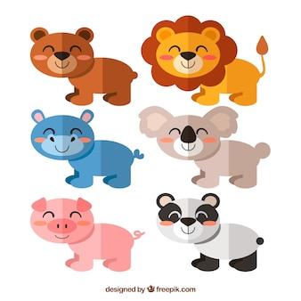 Mooi pakket vrolijke dieren