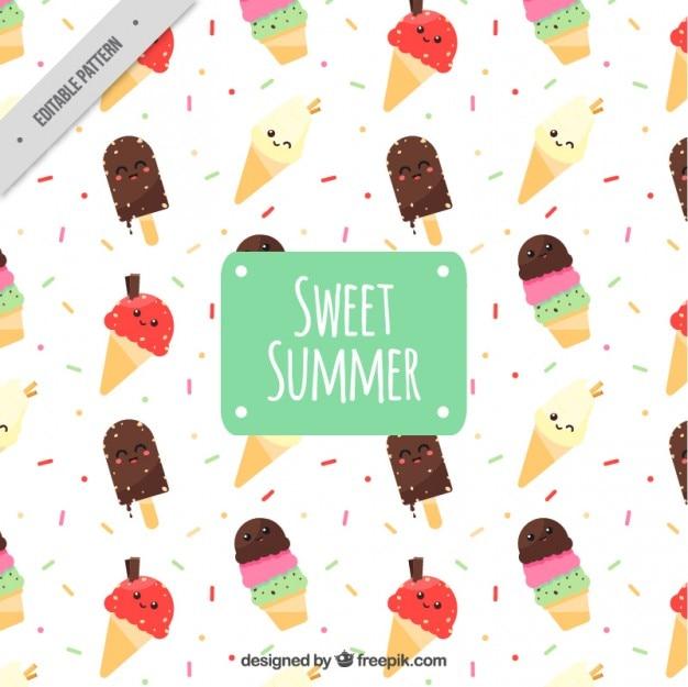 Mooi patroon met gekleurde ijsjes