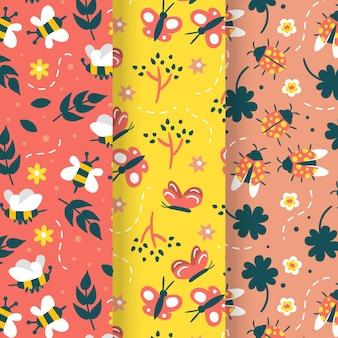 Mooi patroon met repetitieve bugs-collectie