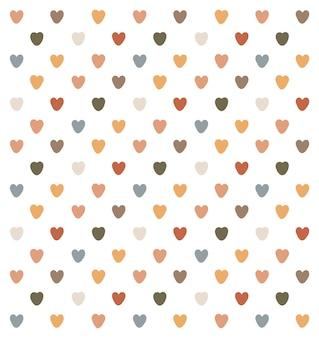 Mooi patroon van kleurrijke harten
