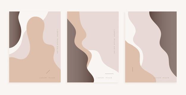 Mooi posterontwerp met vloeiende lijnen in klassieke kleuren