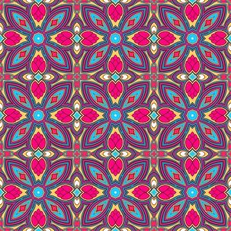 Mooi retro natuurlijk kleurrijk abstract retro patroon